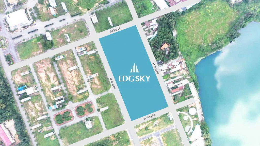 Vị trí dự án LDG Sky Bình Dương